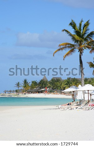 Turquoise tropical water of mauritius #1729744