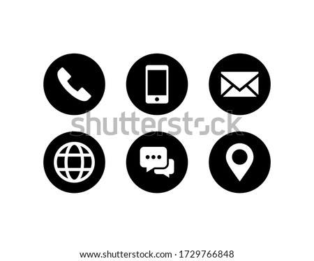 Contact us icon vector. Communication icon set Royalty-Free Stock Photo #1729766848