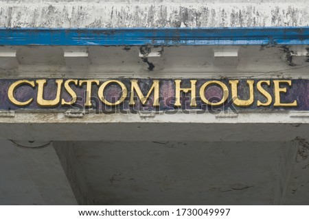 Old building of the custom house