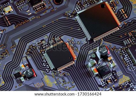 Electronic circuit board close up. #1730166424