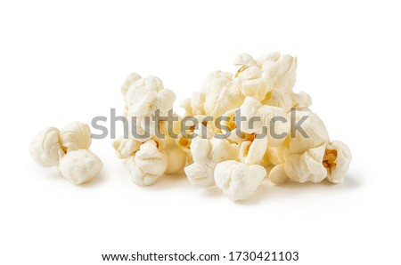 Heap of salted popcorn, isolated on white background #1730421103