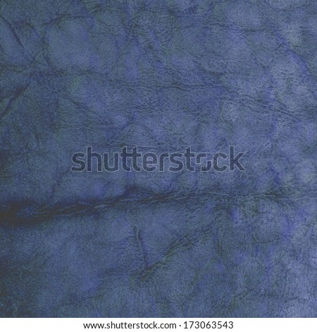 old blue leather texture   #173063543
