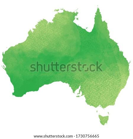 Watercolor style world map. Australia.