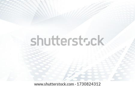 Abstract grey background poster with dynamic waves. technology network Vector illustration. Royalty-Free Stock Photo #1730824312