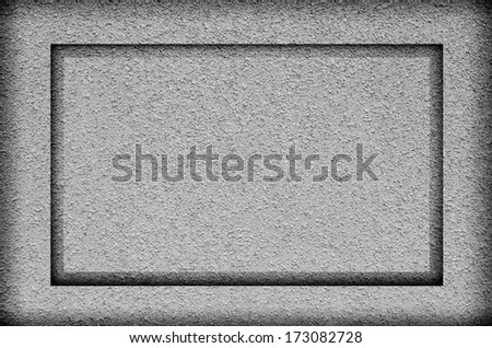 Frame gray rough plaster surfaces . #173082728