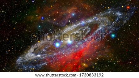Galaxy by NASA. Elements of this image furnished by NASA Royalty-Free Stock Photo #1730833192