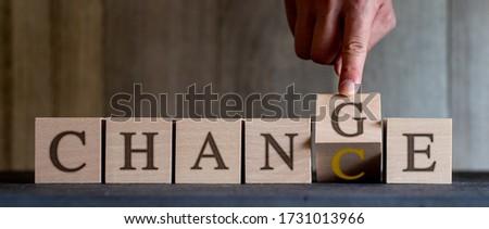 Change to Chance wood blocks Royalty-Free Stock Photo #1731013966