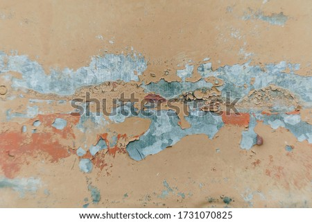 Abstract texture of rusty metal close up #1731070825