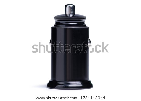 Car USB power supply in the cigarette lighter on a white background isolation #1731113044