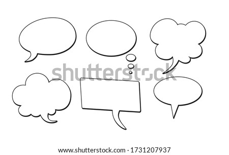 Bubble comic speech set, great design for any purposes. Sticker design. vector illustration