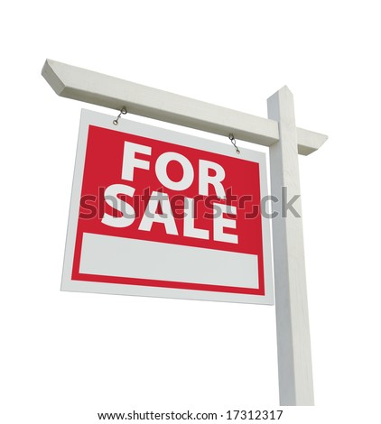 For Sale Real Estate Sign Isolated on a White Background. #17312317