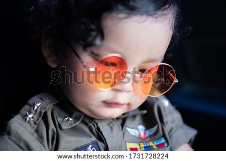 Child police practice field skills