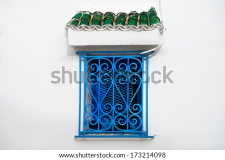 Traditional Tunisian window in Sousse (more pictures from Tunisia http://www.shutterstock.com/sets/1574882-tunisia.html?rid=714394)