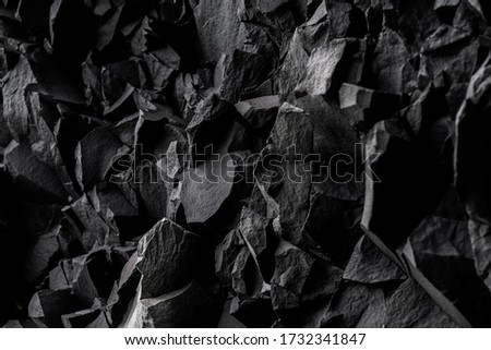 Iceland.  The texture of basalt rocks. Royalty-Free Stock Photo #1732341847