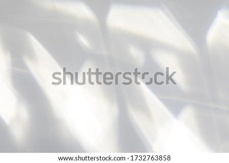 Geometric texture overlay effect for photo and mockups. Organic drop diagonal shadow and light caustic effect on a white wall.