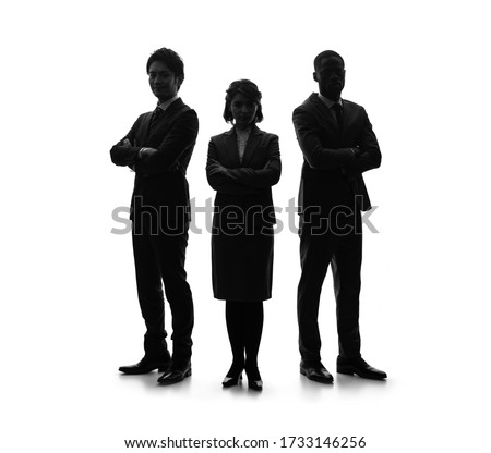 Silhouette of group of businessperson. Partner of business. Royalty-Free Stock Photo #1733146256