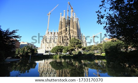 Sagrada Familia Antonio Gaudi Barcelona Spain #1733170370