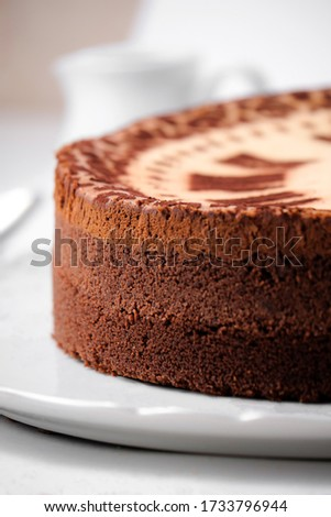 Picture of classical baked cheesecake