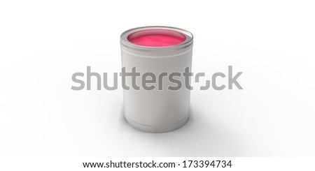 Gray can with pink paint #173394734
