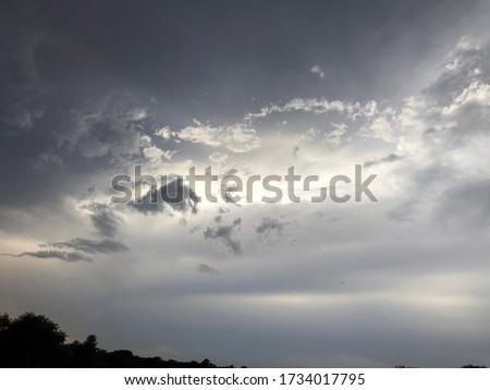 Cloudy sky pic taken before rain in Pakiatan