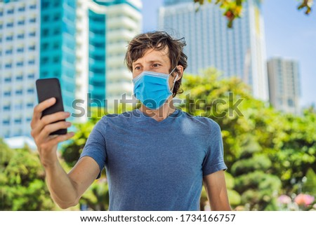 Face Recognition In Medical Mask Using Artificial Intelligence And Neural Networks. Biometric scanning Face ID. Identification of Person Through System Of Recognition. Polygon Wireframe Concept