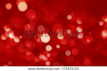 red defocused lights background