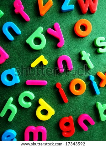 colored letters on the table #17343592