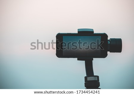Mobile phones or touch-screen smartphones are fitted with Gimbal, a stabilization device used for filming videos or animations to ensure smooth images.