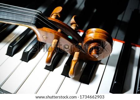 Piano and Violin. Ebony and ivory