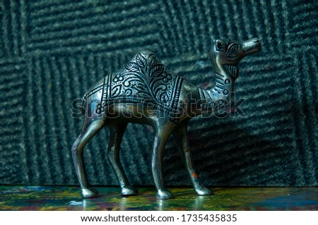 Silver White Metal Camel Statue made by rajasthan handicrafts #1735435835