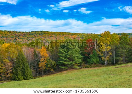 Brattleboro, Vermont Fall Colors in the Hills #1735561598