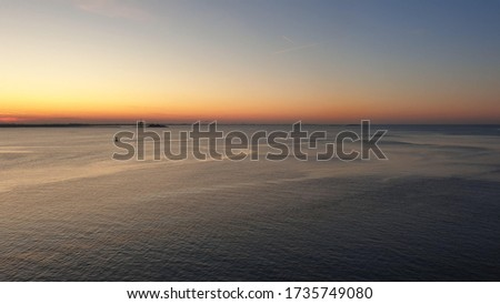 Sunset with a view from a cruiseship