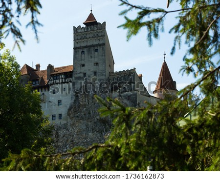 Bran castle known as Dracula's castle, Brasov, Romania Royalty-Free Stock Photo #1736162873