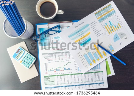 Excel stat spreadsheet business analytics graph statistic with graph and table data number in charts database. Accountant hands pointing excel stat financial spreadsheet document business graph charts #1736295464