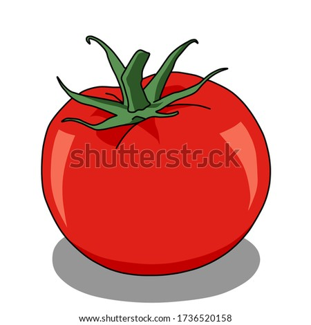 red tomato drawing clip art