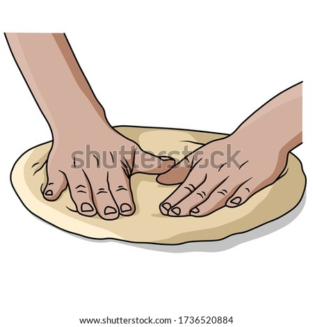 spread the pizza with your hands