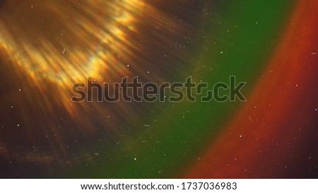 Rainbow Lens Optical Flare Film Dust Overlay Effect Vintage Abstract Bokeh Light Leaks Photo Retro Camera Defocused Blur Reflection Bright Sunlights. Use Screen Overlay Mode for Photo Processing.