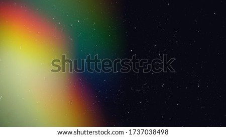Rainbow Lens Optical Flare Film Dust Overlay Effect Vintage Abstract Bokeh Light Leaks Photo Retro Camera Defocused Blur Reflection Bright Sunlights. Use Screen Overlay Mode for Photo Processing. #1737038498