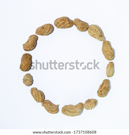 O the letter. alphabet of beans. Beans. concept of healthy eating. photo for your design. horizontal orientation of the sheet