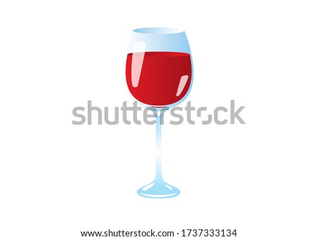 Full glass of red wine icon. Glass of wine illustration. Glass of red wine icon isolated on a white background