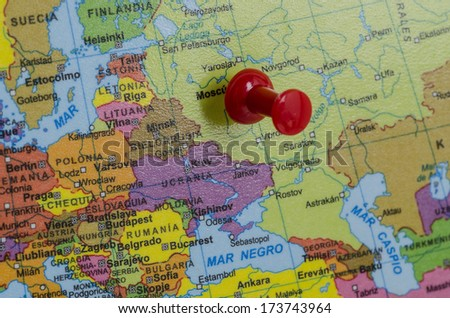 Russia on map Royalty-Free Stock Photo #173743964