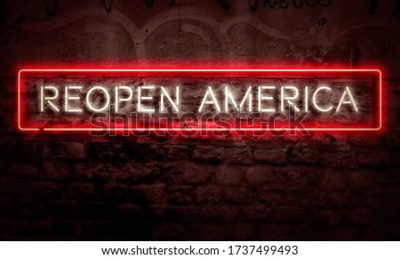 Covid19 Crisis Social Issue Reopen America Conceptual Art #1737499493