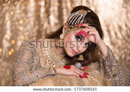 Asian Bridal Shoot, Makeup shoot, Lahore Pakistan. 31 July 2019 Royalty-Free Stock Photo #1737608561