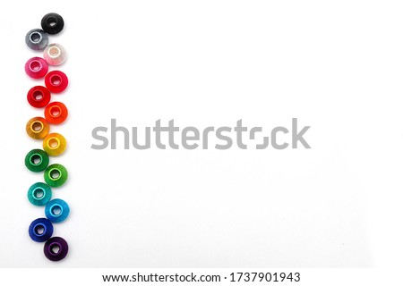 colorful background thread decoration background silk thread beads template powerpoint