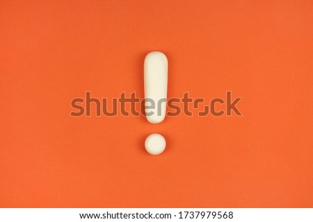 Exclamation mark on a red background. Warning sign, keep attention concept. The alarm about important information.  Royalty-Free Stock Photo #1737979568