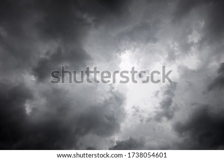 Clouds. Rain clouds. Storm is coming. Before a heavy rainstorm. Rain clouds background.
