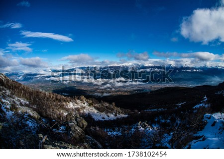 WINTER PIC OF MOUNTAIN IN PATAGONIA