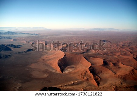 Aerial Picture of the Desert of Namibia - Africa