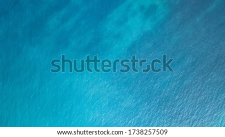 Blue sea surface from above Royalty-Free Stock Photo #1738257509