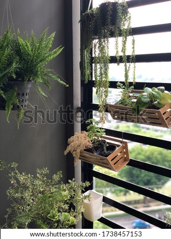 Small space outdoor balcony planting garden decoration design